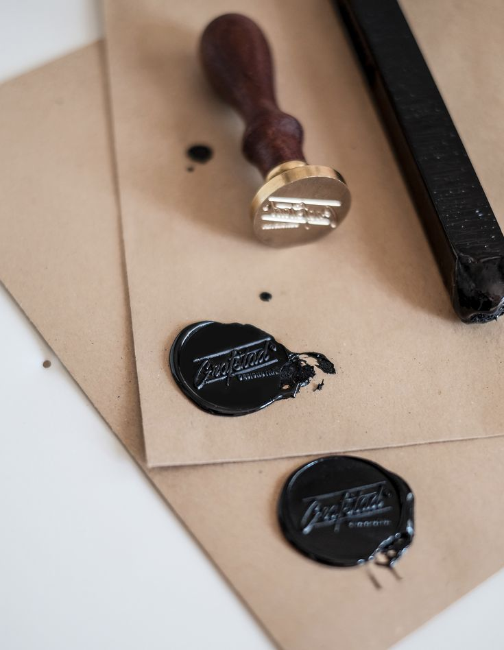 Wax by Grafstad. #stamp #brass #DIY #love #stationary