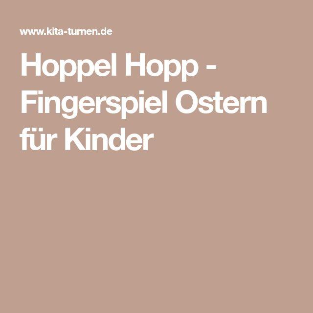 Hoppel Hopp - Fingerspiel Ostern für Kinder