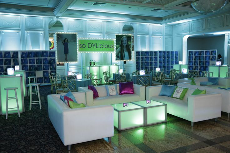 A Candyland inspired turquoise, hot pink and lime green party in Westchester, NY.    We filled The Fountainhead with pops of lime green, hot pink and turquoise for Dylan's colorful (and DYLicious) Bat Mitzvah.   Under the balloon ceiling glowing LED furniture brought the bar, VIP lounge and teen area to life - along with custom the designed and printed logo, murals and photo lamps! http://xquisitevents.com/