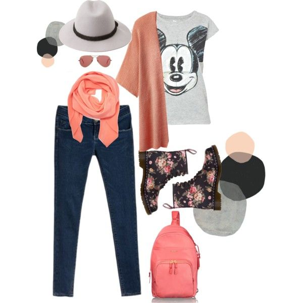 lets go! peach to beach by lelymareta on Polyvore featuring Paul & Joe Sister, Dr. Martens, Tumi, Tanya Taylor, Forever 21 and Ray-Ban