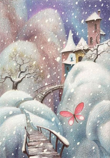 so pretty! love the snowfall. and russian! wow :)