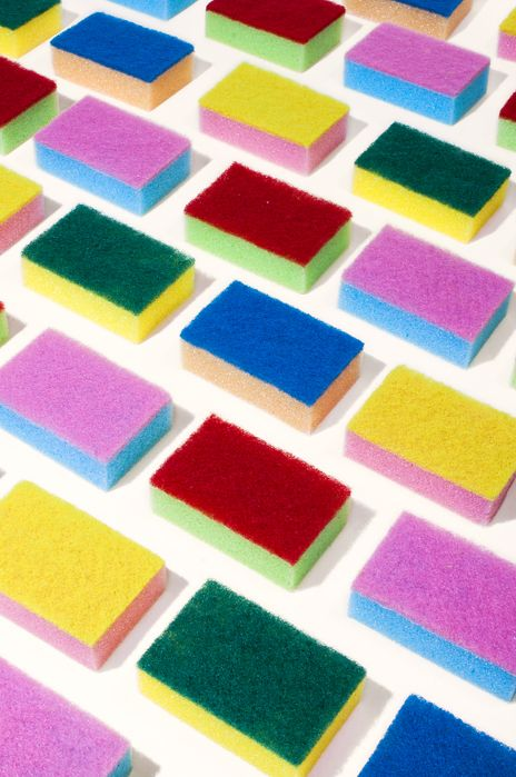 These colourful sponges are an artwork on their own but you could use them to create texture and interest in your sponge paintings.