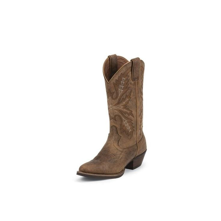 Justin Boots- Womens Tan Puma Boot- Tan - Tan puma 12in. womens pullon boot with J-flex flexible comfort system and a removable orthotic insert.