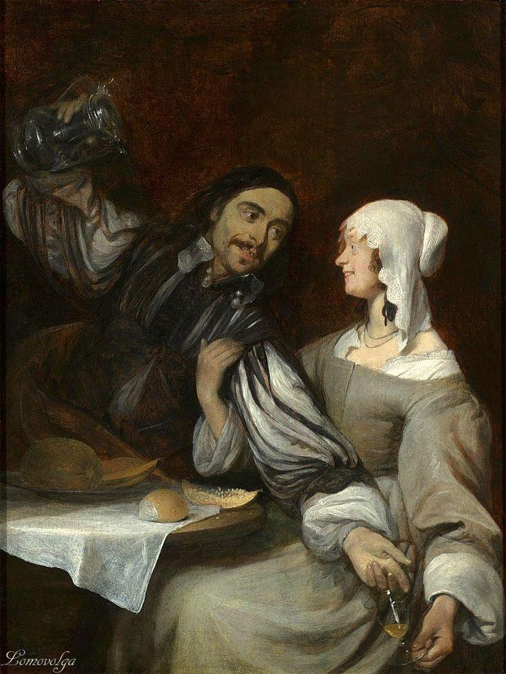 Герард Терборх (Gerard Terborch, 1617-1681) Настойчивое предложение выпить