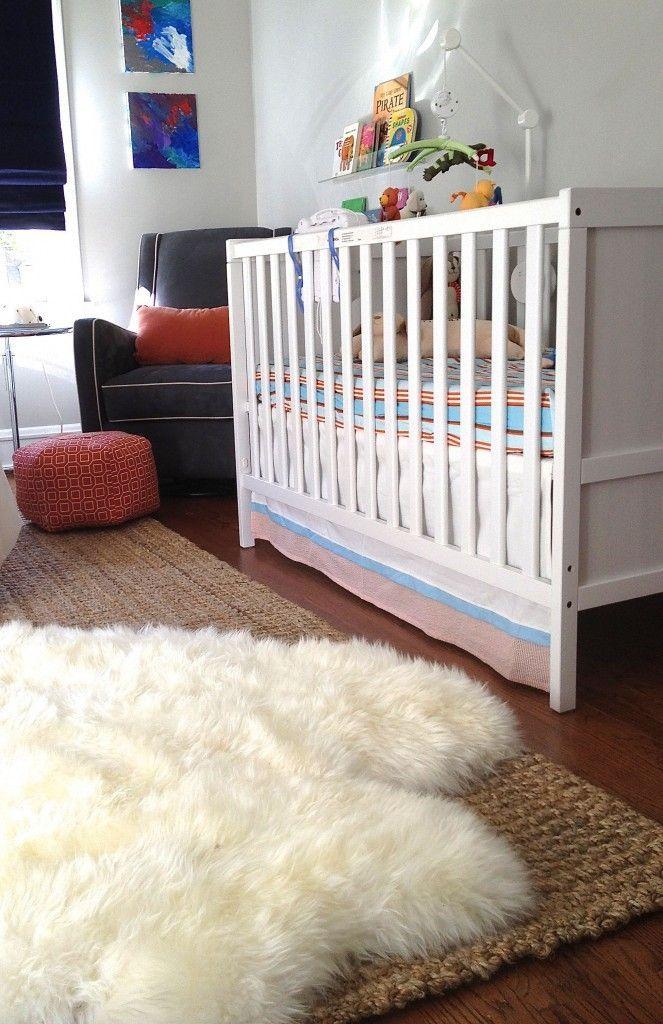 Costco Sheepskin Over Jute Rug In Nursery Like The Sheepskinrugs