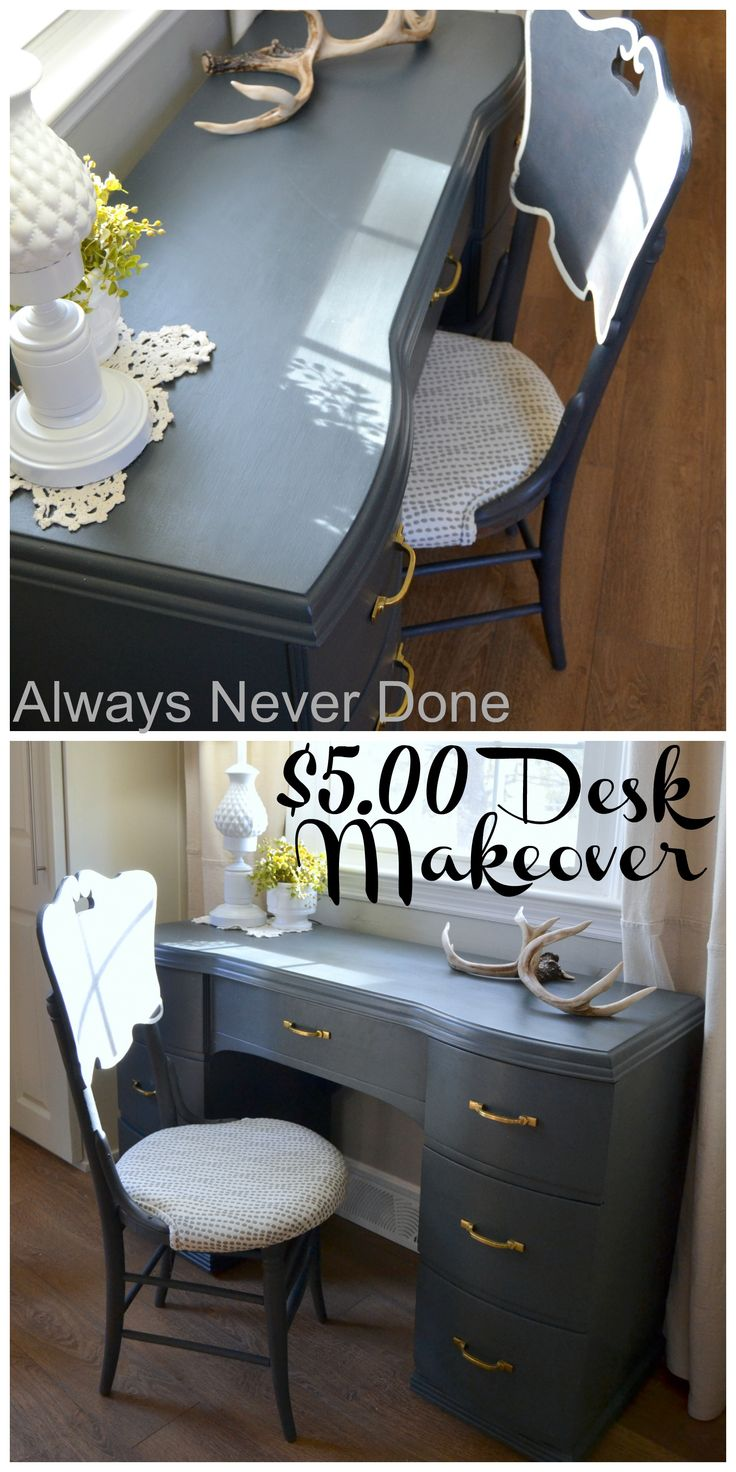 I transformed this yard sale desk into a beauty using BB Frosch Chalk Paint Powder. See the before photos.