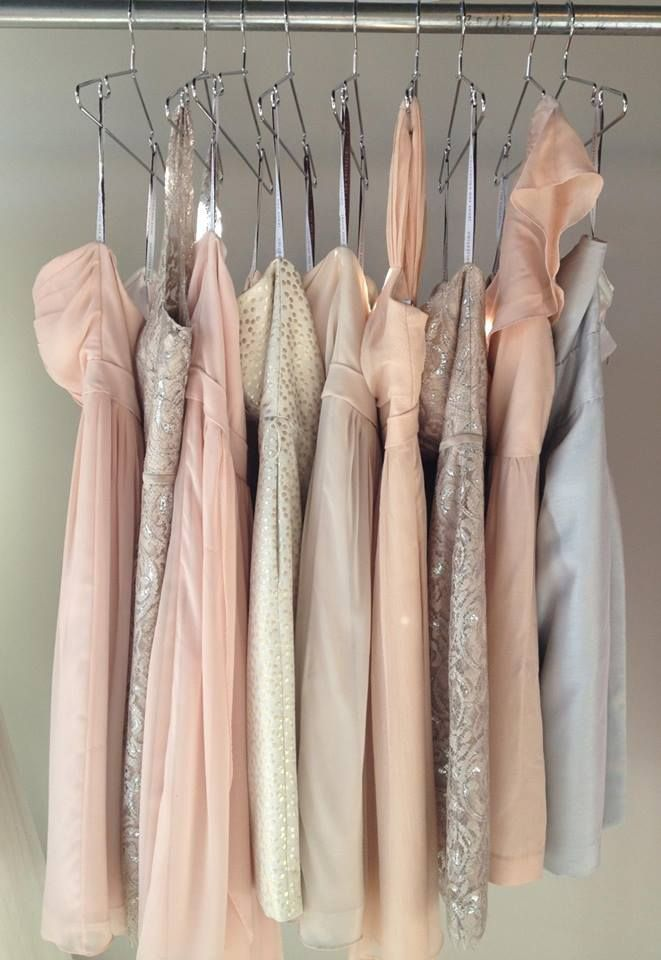 such a pretty palette of our neutral dresses...loving the mix of textures!