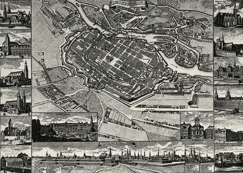 Plan von Breslau 1741 Kupferstich