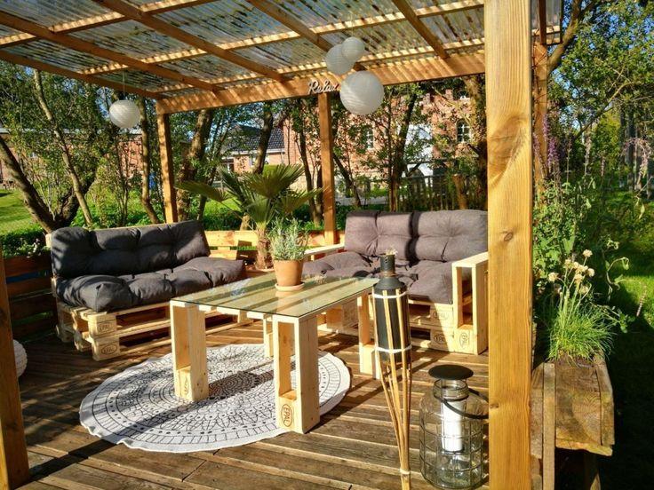 ᐅ Paletten Lounge bauen  kaufen Terrasse Pinterest