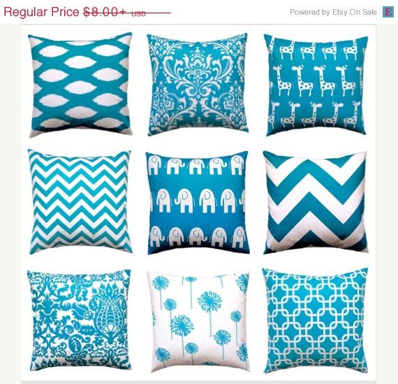 sale teal couch pillow covers euro sham turquoise pillow covers teal pillow covers