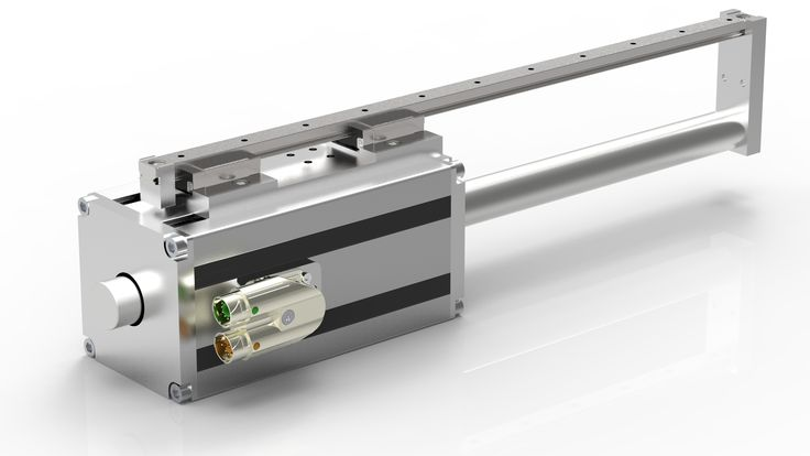 GD250TS-AS Green Drive tubular linear motor with antirotation mechanics