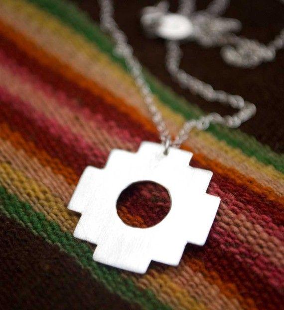 Chakana Andean Inca Cross  necklace by AdaRosman on Etsy, $76.00