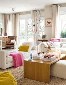 houseandhome1Decor, Coffe Tables, Living Rooms, Dreams, Soft Colors, Livingroom, Living Room Layout, Mustard Yellow, White Room