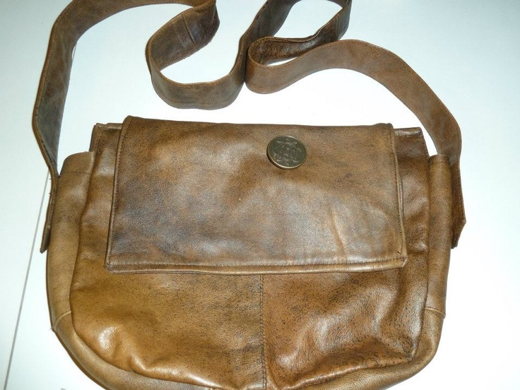 Soft leather bag ( my first ;) ) - front view