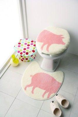 Pig Toilet Cover- little girls bathroom:)
