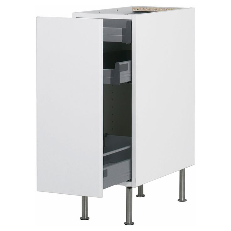 Amazing AKURUM Base Cabinet With Pull Out Storage   White, Härlig White, 12  Part 10