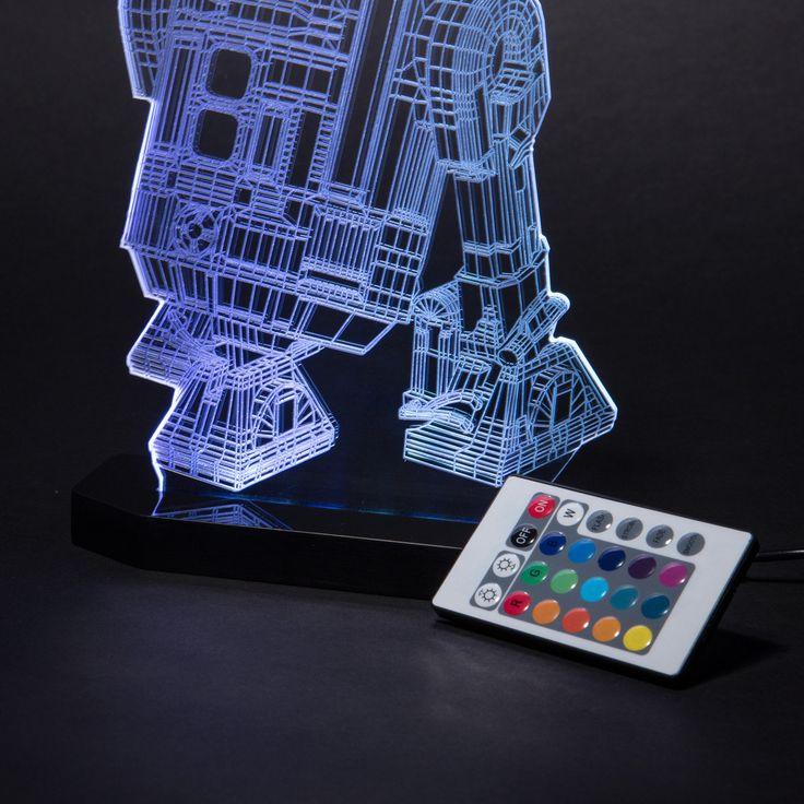 Charming Star Wars R2-D2 Figure LED Desk Light *Multicolor Star Wars R2-D2 LED Desk Light - $120.00* http://glowingwithme.com/charming-star-wars-r2-d2-figure-led-desk-light #Star #Wars #R2D2 #Multicolor #LED #Desk #Table #Light #Lamp