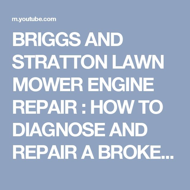 229 best mowers images on Pinterest | Small engine, Engine repair ...