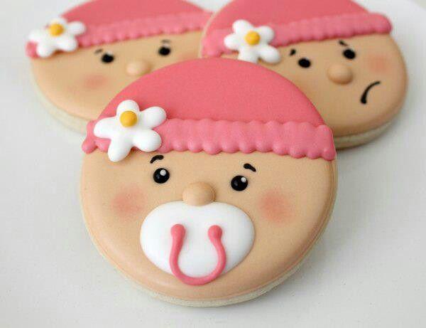 galletas con cara de bebes para baby shower manualidades para baby shower
