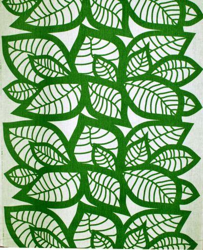 Mairo green Hosta fabric. Designed by Linda Svensson Edevint.
