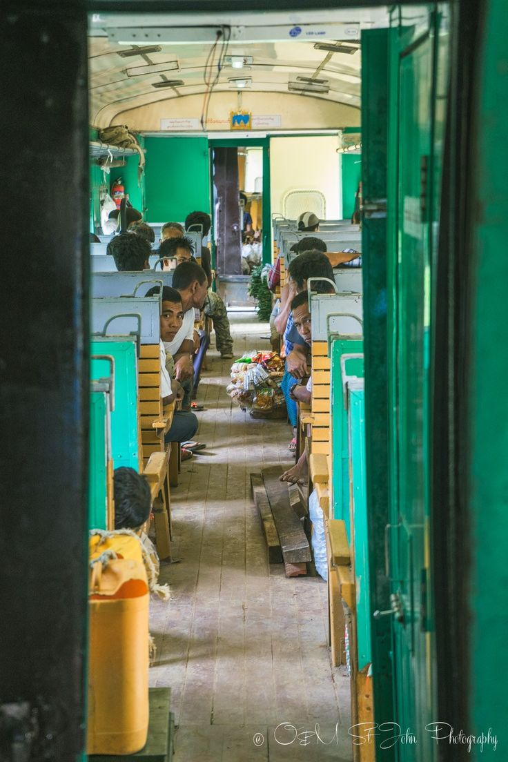 Inside the train carriage, Hsipaw. Myanmar