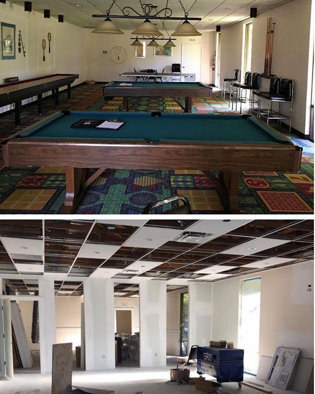 Good Bye Dark Casino Carpet Hello Bright Fitness Game Room Parkshore Naplesrealestate Naplesrealtor Naplesre Game Room Naples Real Estate Renovations