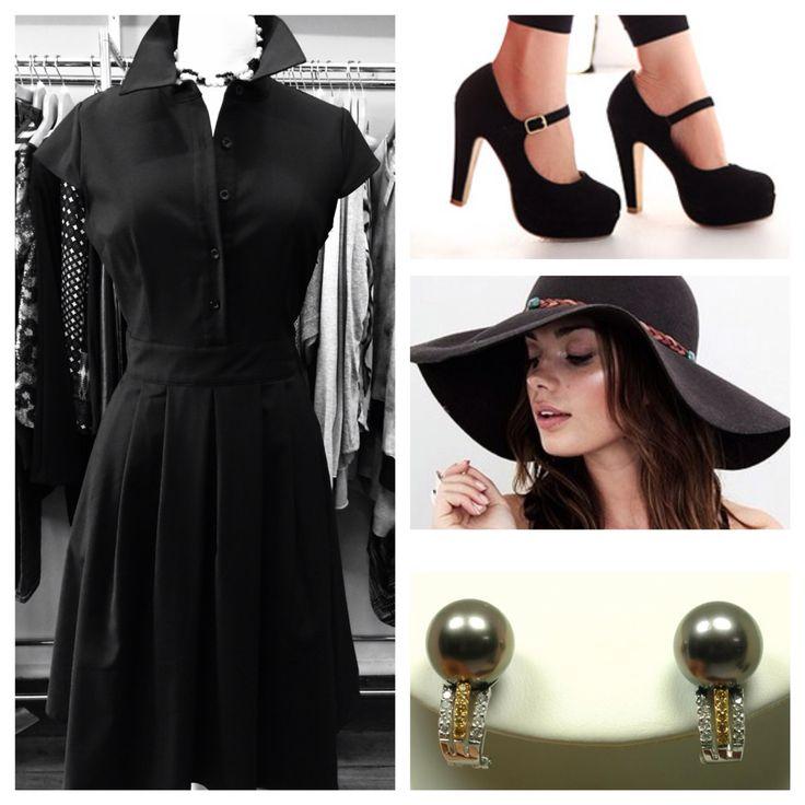 Vanessa Tong Timeless black dress, sizes 10 to 16, $89