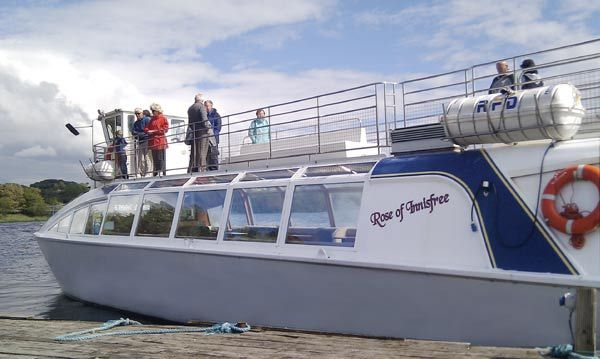 Rose of Innisfree Tourboat | Yeats Tour, From Parkes Castle, Dromahaire Rd, on Lough Gill. check times (twice a day usually).