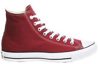 Womens carmine converse all star hi trainers from Topshop - £47.99 at ClothingByColour.com