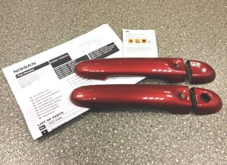 Nissan Force Red Front Side Door Handle Covers (with I-Key) - KE6051K052RD
