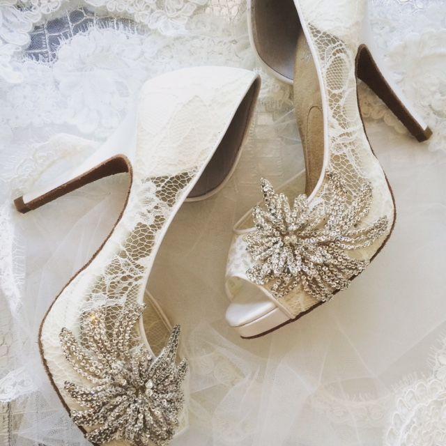 The Serafina Royale Lace Wedding Shoe Available Exclusively At Left Bank Jewelry