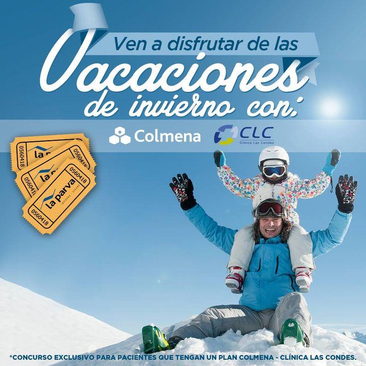 Participa por  tickets dobles para asistir al Centro de Esquí la Parva con Clínica las Condes afiliandote a un plan y compartiendo con tus amigos.http://bit.ly/1rhRig5