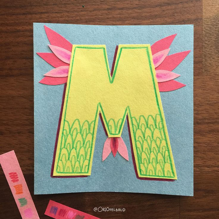 Letter M!. This is part of a paper art type I'm making for 36 days of type and also part of my 100 days project about paper art! :)
