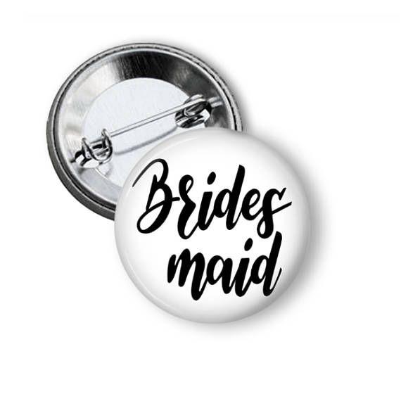 Bridesmaid Pin I Do Crew Team Bride Button Rehearsal