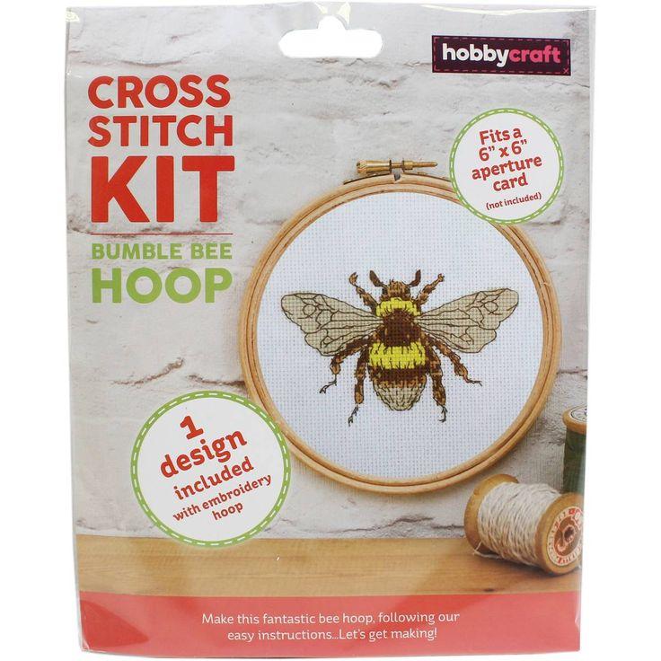 Bumble Bee Cross Stitch Hoop Kit | Hobbycraft