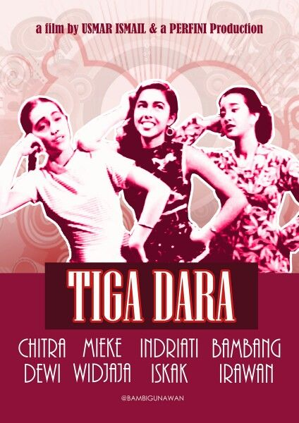 Re-design poster #tigadara untuk #carrotacademy  Ini versi 50's, any comments friends?  #filmindonesia #jadul #film_indonesia #indonesia_movie #vintagestyle #musical #movieposter #karyamasbambi #retro #50s