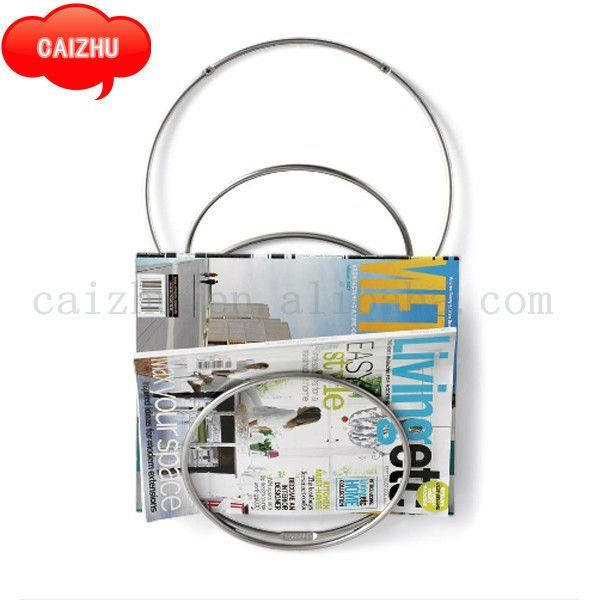 chrome wire wall mounted magazine rack buy magazine rackwall mounted magazine rackwire magazine rack product on alibabacom