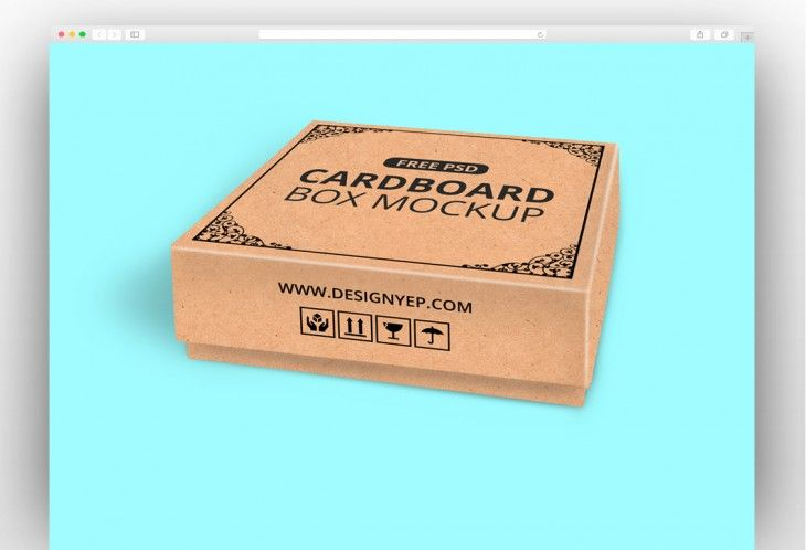 Cardboard Box Psd Mockup Available For Free Mockup Psd Mockup Free Download Mockup