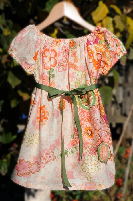 Flower girl peasant dress for a 4 year old