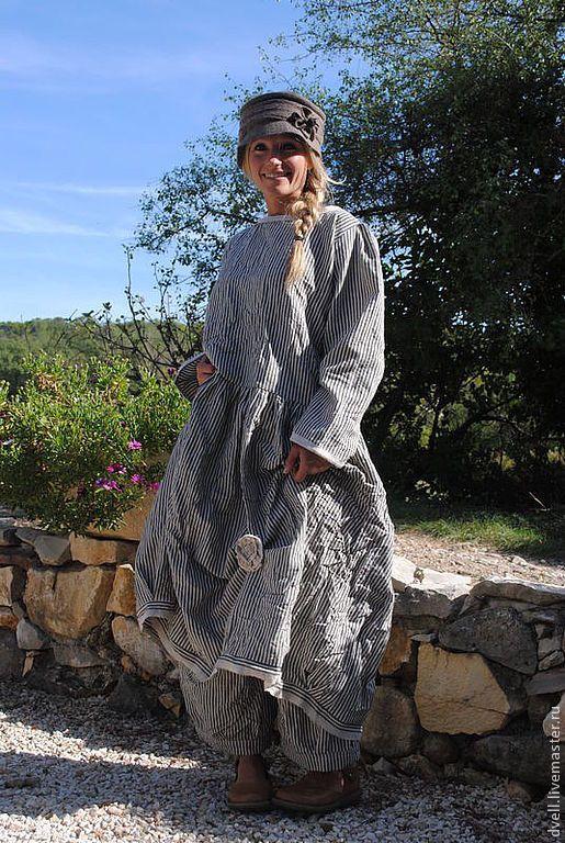 Купить Еще не лето , но готовим платья , сарафаны - голубой, в полоску, стиль платья сарафан