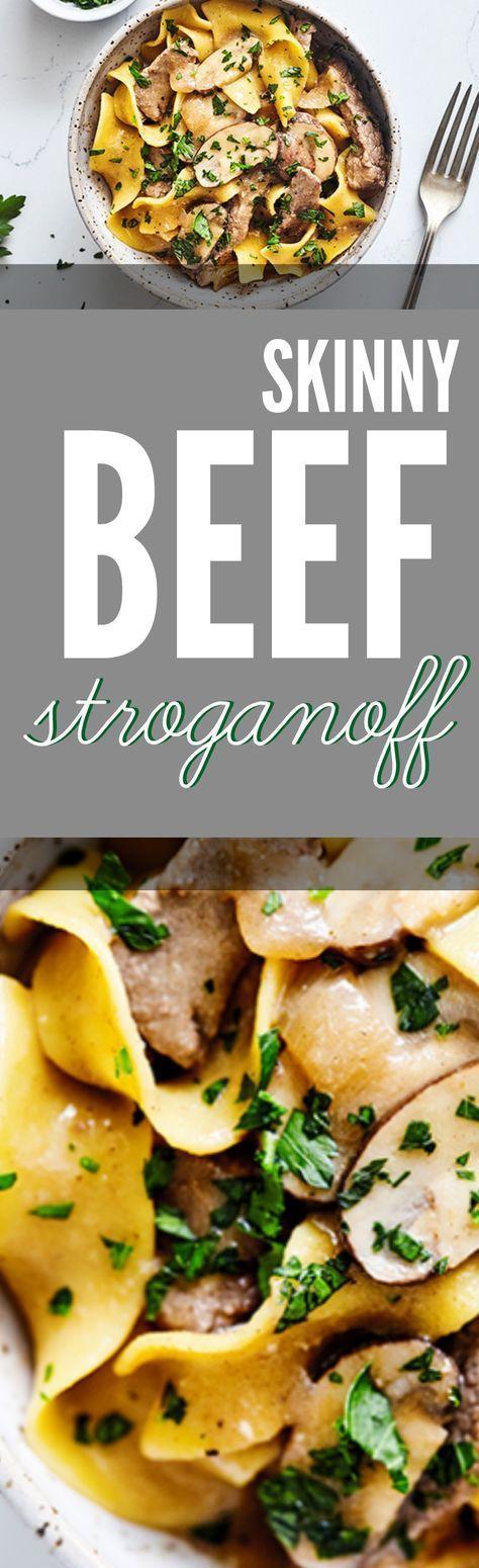 Skinny Beef Stroganoff #beefstroganoff #healthystroganoff #healthybeefstroganoff #stroganoff #healthyrecipes #healthydinnerrecipes #healthydinner