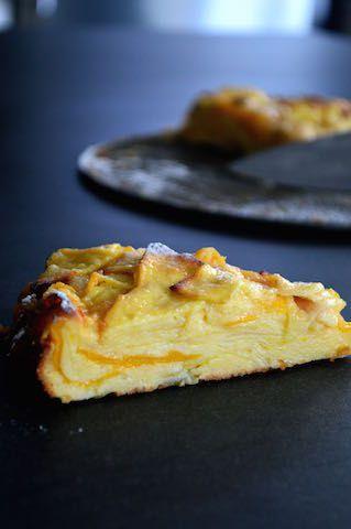 """Gâteau fondant (dit """"invisible"""") aux pommes et à la mangue — ♨ je vais vous cuisiner"""