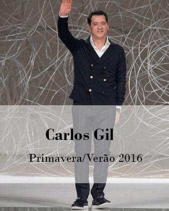 CARLOS GIL: PRIMAVERA/VERÃO 2016