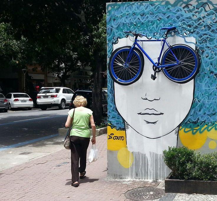 Street art de Diana Couto artiste brésilienne.