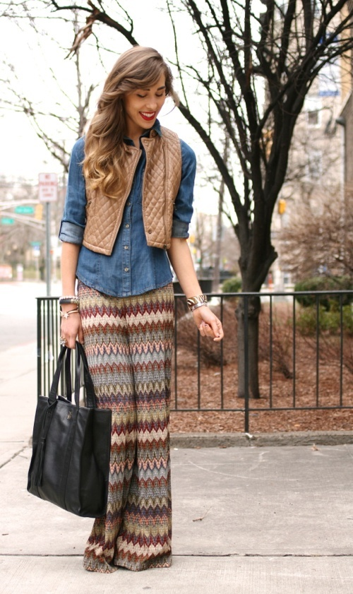 Chevron skirt. Outfit?  yes.no.maybe so.