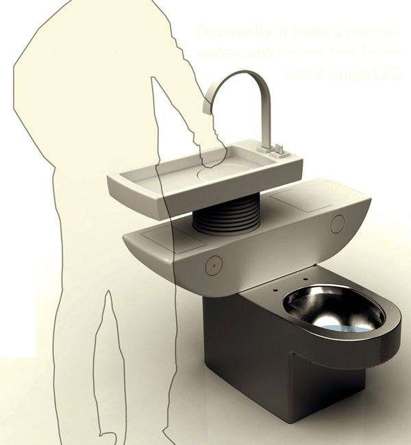 Eco Toilet:Recycle The Water From The Washbasin