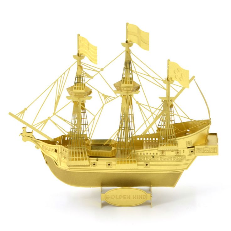 3D Metal Puzzles for children Adult Model kids Toys for Adult Jigsaw Golden hind corsair carrier-G metal puzzle educational toys