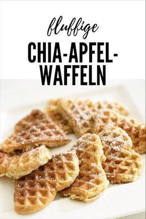 Fluffige Chia-Apfel-Waffeln – Casa Selvanegra