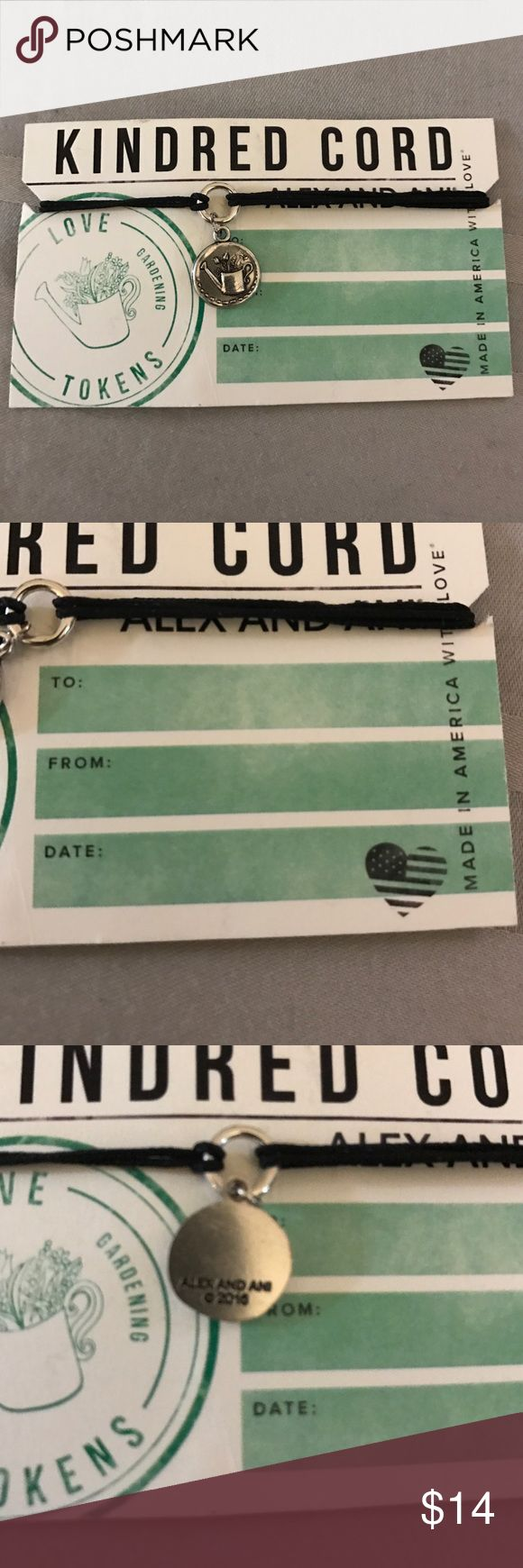 Alex and Ani Kindred Cord bracelet Alex and Ani Kindred Cord love token: a keepsake given or worn as a token of love. Brand new with retail tags Alex & Ani Jewelry Bracelets
