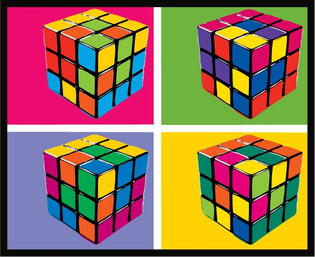 andy warhol style rubik 39 s cube 1980 39 s me pinterest. Black Bedroom Furniture Sets. Home Design Ideas